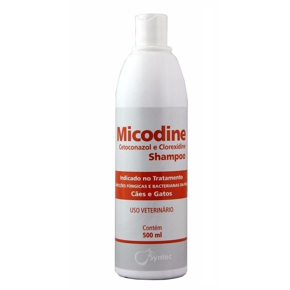 Micodine Shampoo Syntec Cetoconazol e Clorexidine 500ml