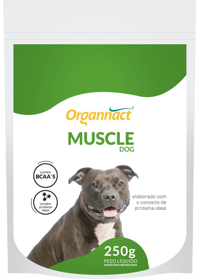 Suplemento Muscle Dog Sache 250g Organnact 250 g Cachorro