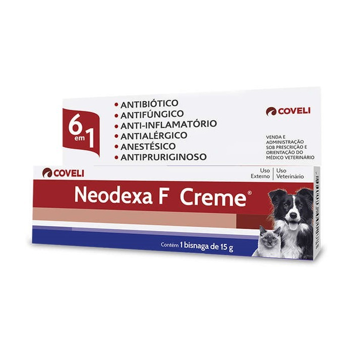 Neodexa F Creme Antibiótico Coveli 15g