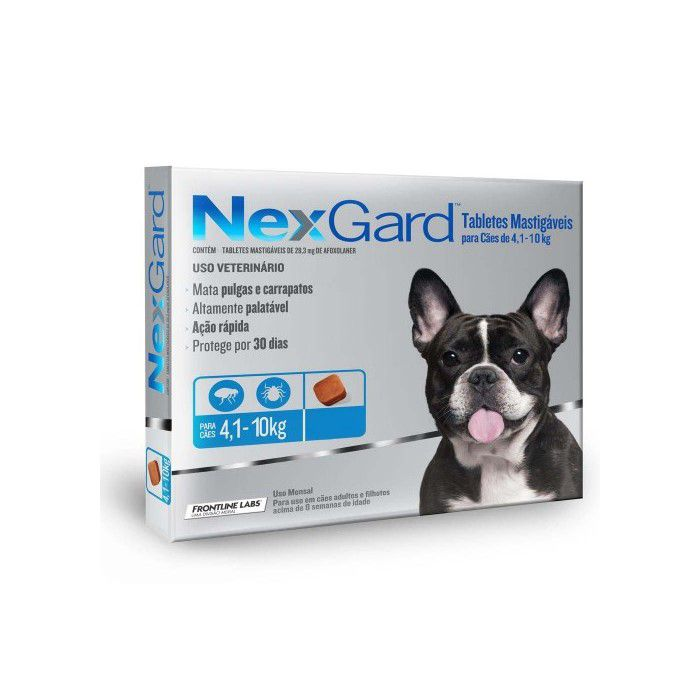 Nexgard Antipulgas Cães 4-10kg Combo 3 Comprimidos