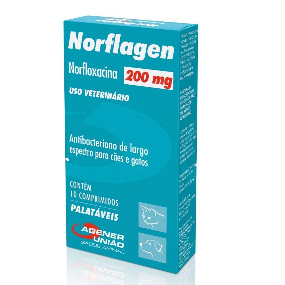 Norflagen 200mg Antibacteriano Agener União 10 Comprimidos