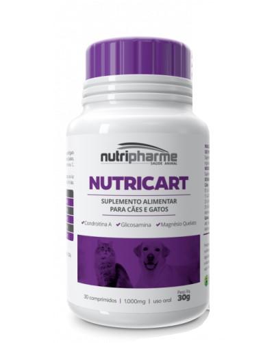 Nutricart 1000 Suplemento Alimentar Nutripharme 30 Comprimidos