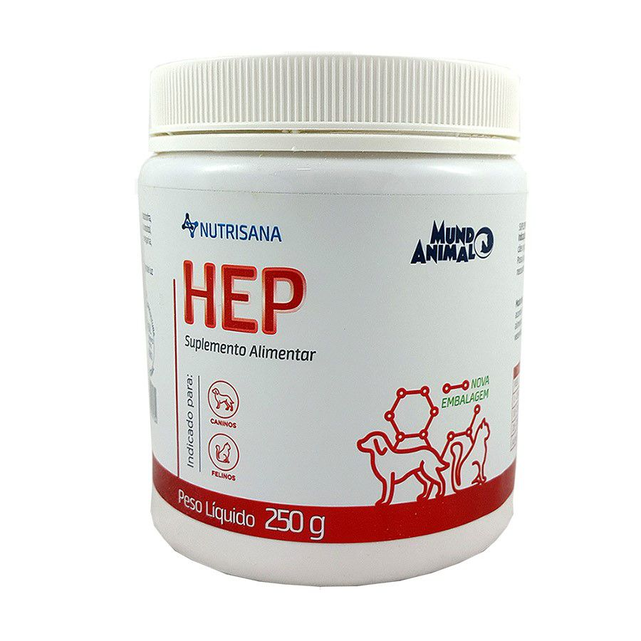 Nutrisana Hep Suplemento Alimentar Cães E Gatos 250 g