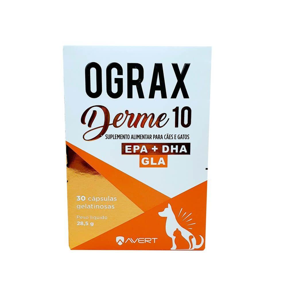Ograx Derme 10 Suplemento Alimentar Para Cães e Gatos