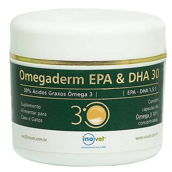 Omegaderm EPA & DHA 30% Suplemento para Cães e Gatos