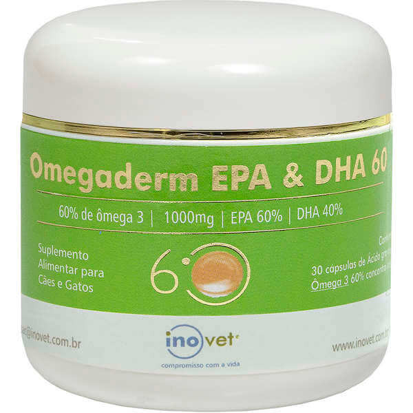 Omegaderm EPA & DHA 60% Suplemento para Cães e Gatos