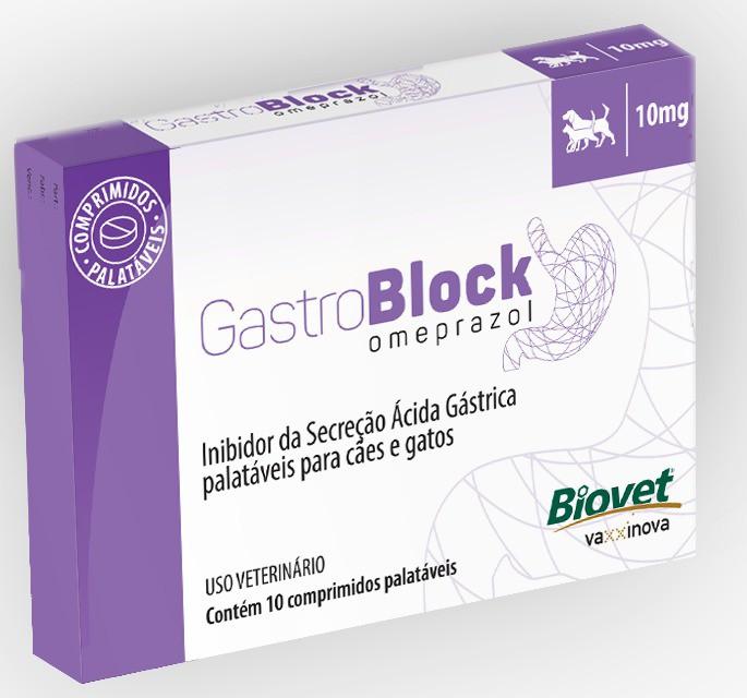 Omeprazol Gastroblock 10mg Biovet 10 Comprimidos