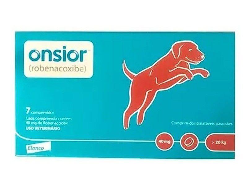 Onsior 40mg Anti-inflamatório Cães Acima De 20kg C/ 7 Comp.