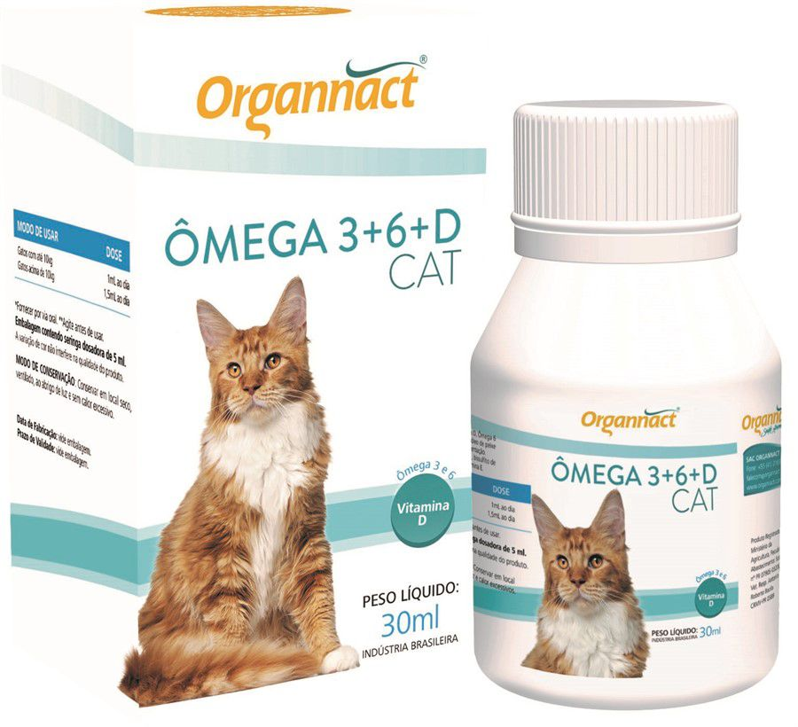 Omega 3+6+D Cat 30ml Organnact