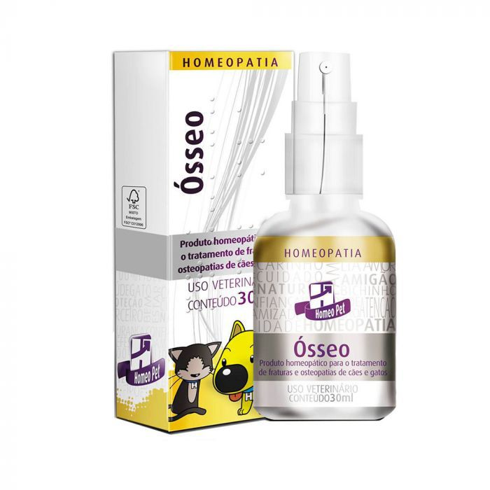 Ósseo Homeopatia Real H Para Cães e Gatos 30ml