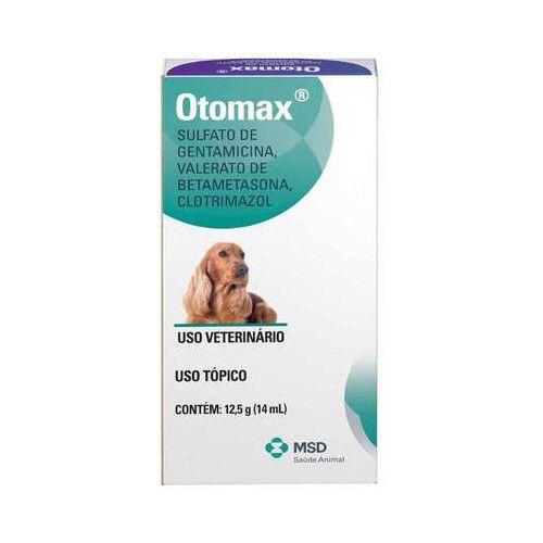 Otomax MSD Pomada Otológica 12,5 g (14 mL) Para Cães
