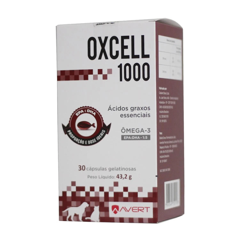 Oxcell 1000 Suplemento Cães e Gatos 30 Cápsulas Avert