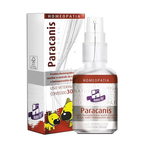 Paracanis Homeopatia Real H Para Cães 30ml