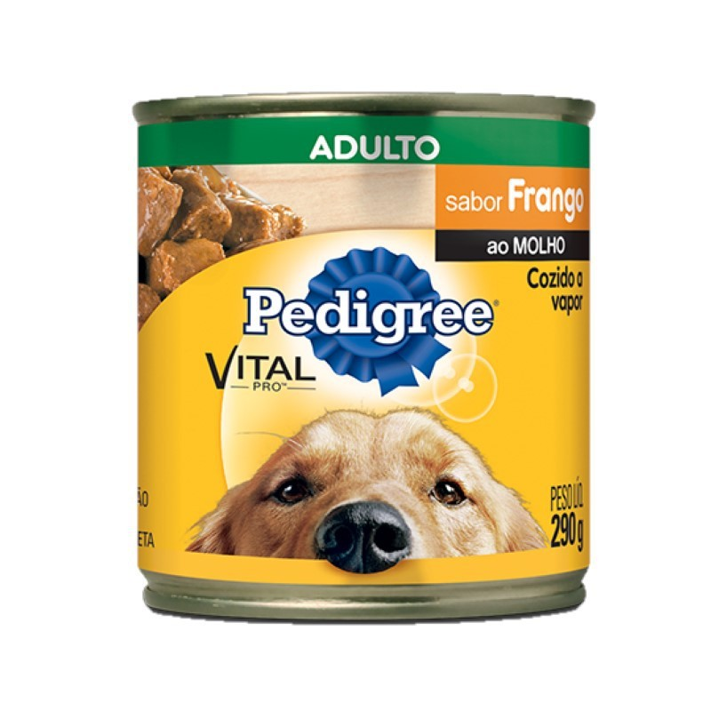 Pedigree Lata Adulto Frango ao Molho 290g Para Cães
