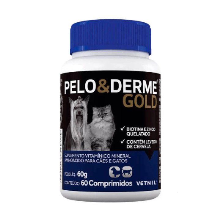 Pelo E Derme Gold 60 Comprimidos - Vetnil