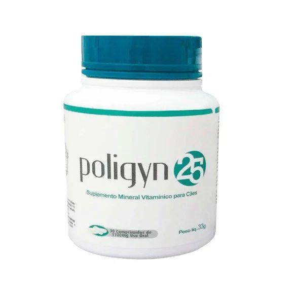 Poligyn 25 Suplemento Mineral Vitamínico Nutripharme para Cães 33g