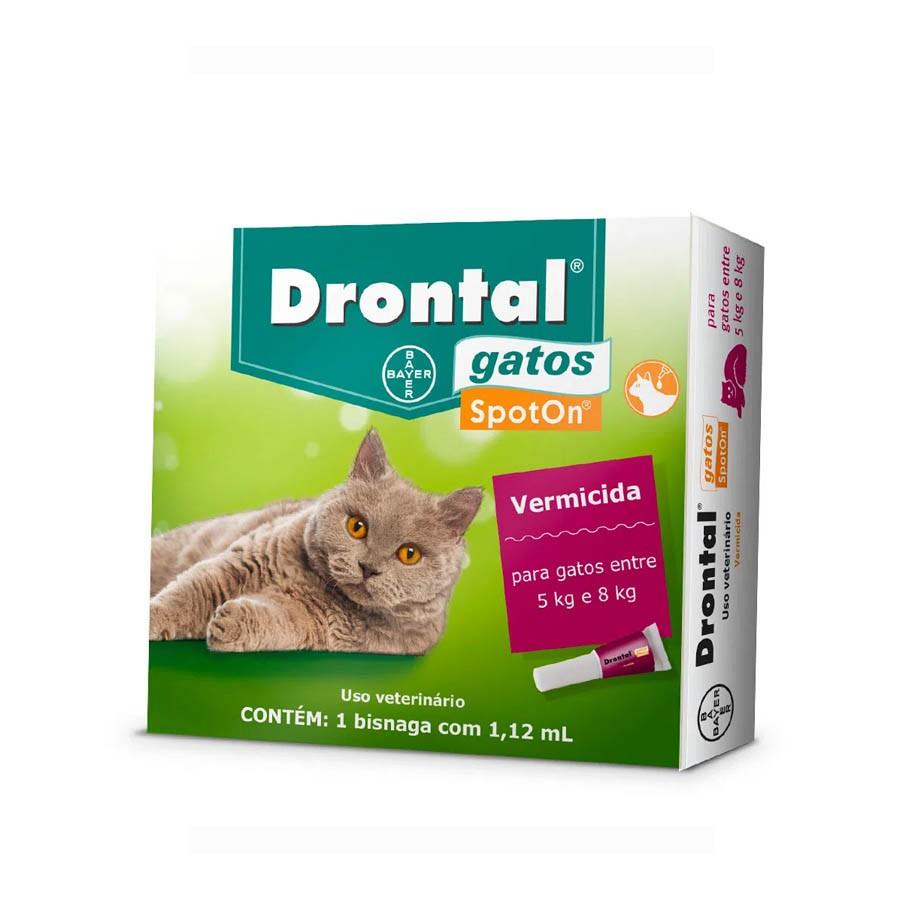 Drontal 1,12ml Vermifugo Gatos 5 A 8kg Bayer