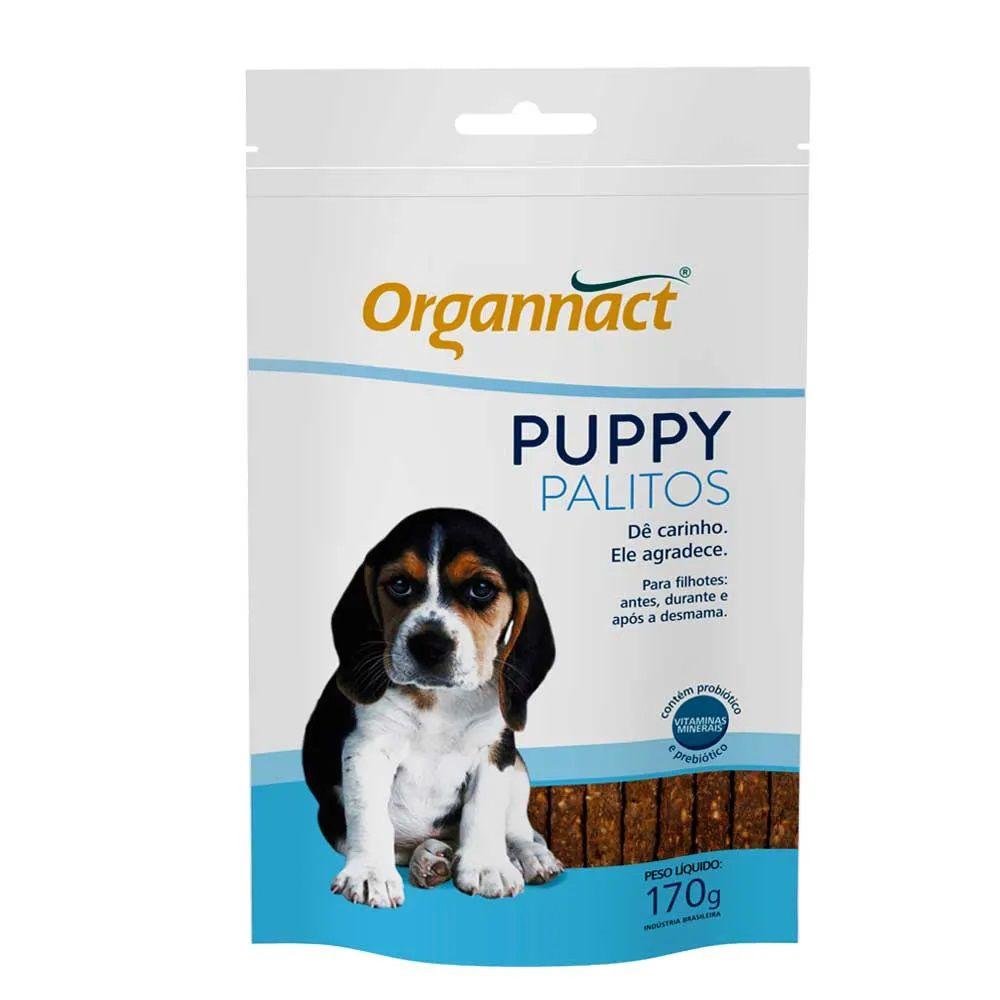 Puppy Palitos 170g Organnact Suplemento Para Cães