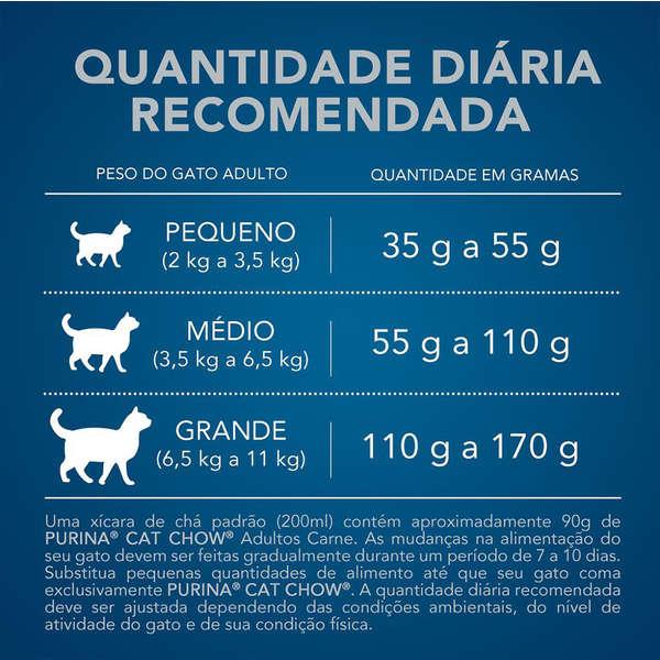 Ração Cat Chow Defense Plus Carne para Gatos Adultos - 1 Kg