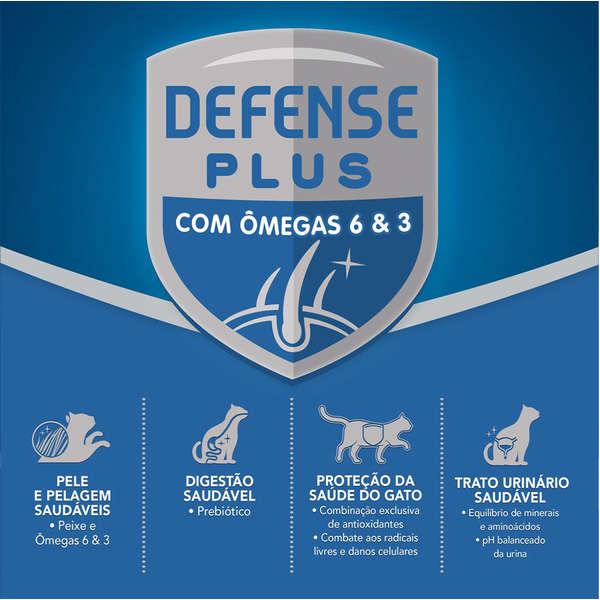 Ração Cat Chow Defense Plus Peixe para Gatos Adultos - 1 Kg
