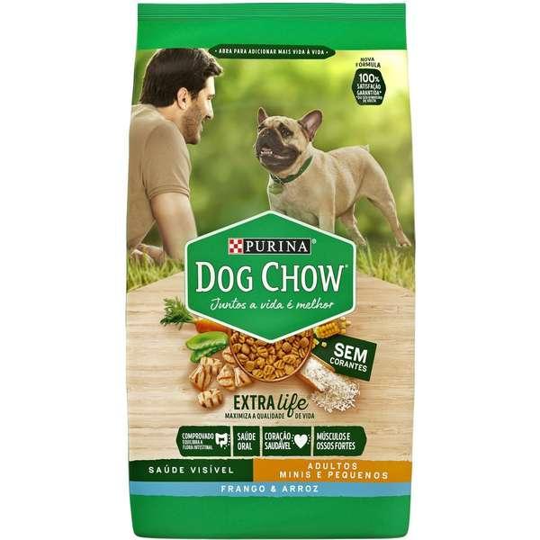 Ração Dog Chow Sem Corantes Frango e Arroz para Cães Adultos Raças Minis e Pequenas - 1 Kg