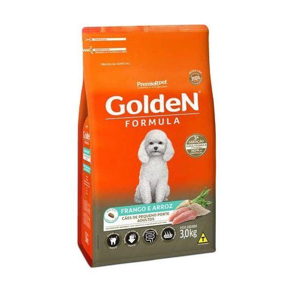 Ração Golden Formula Cães Adultos Arroz e Frango Mini Bits 3 kg
