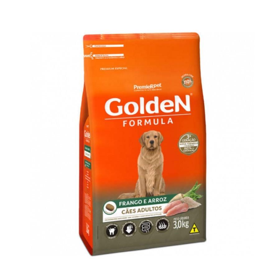 Ração Golden Formula Cães Adultos Frango e Arroz 3kg