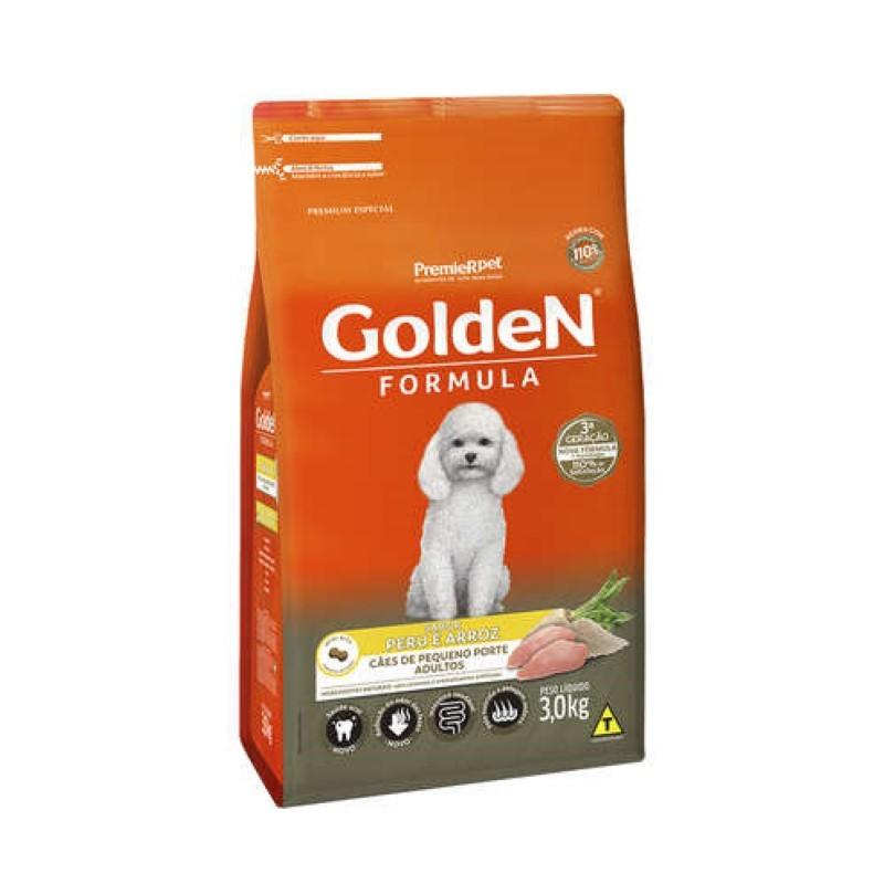 Ração Golden Formula Cães Pequeno Porte Adulto Peru e Arroz 3kg