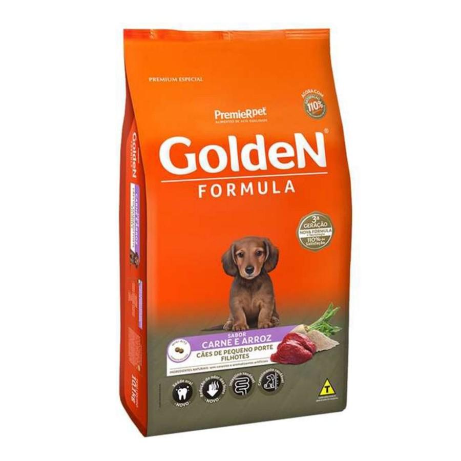 Ração Golden Formula Cães Pequeno Porte Filhotes Carne e Arroz 3kg