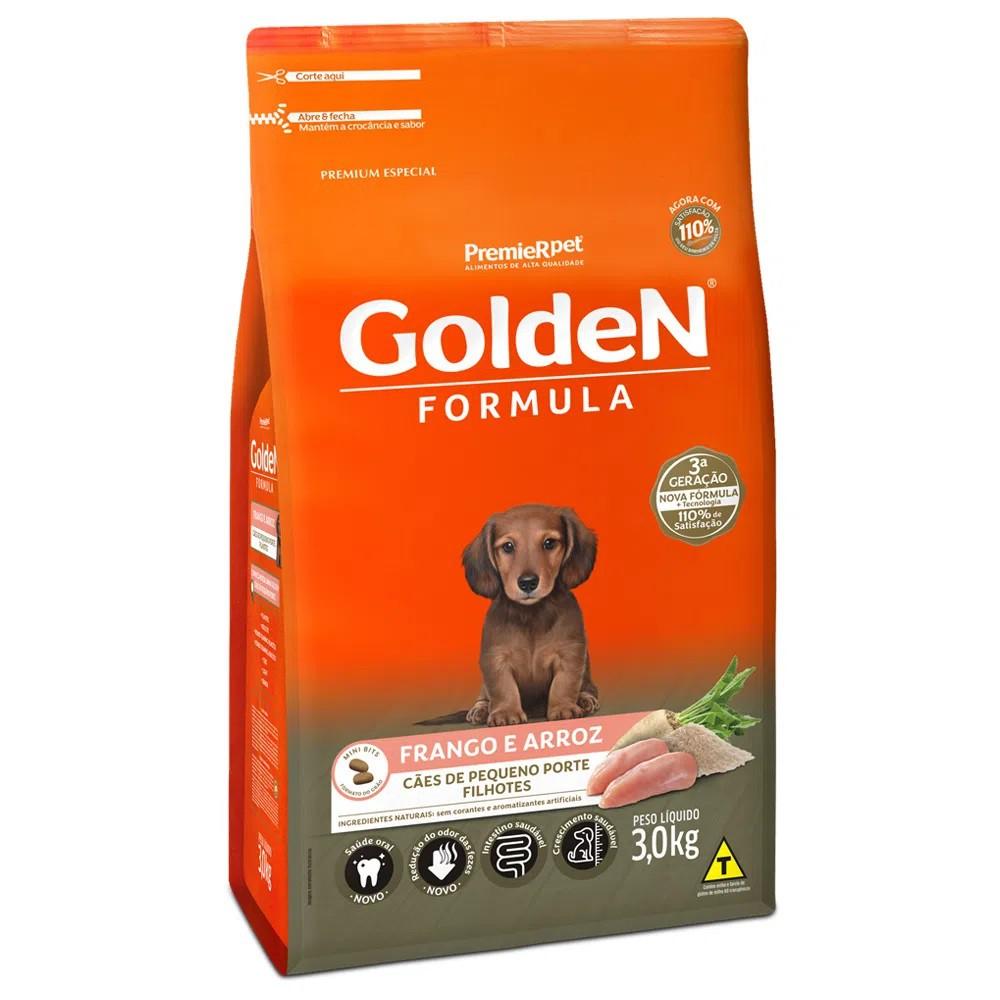 Ração Golden Formula Cães Pequeno Porte Filhotes Frango e Arroz 3kg