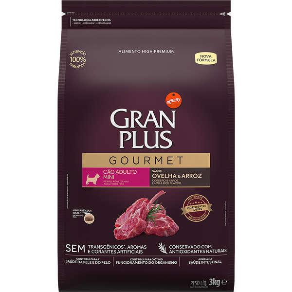 Ração GranPlus Gourmet Ovelha e Arroz para Cães Adultos Mini - 3 Kg