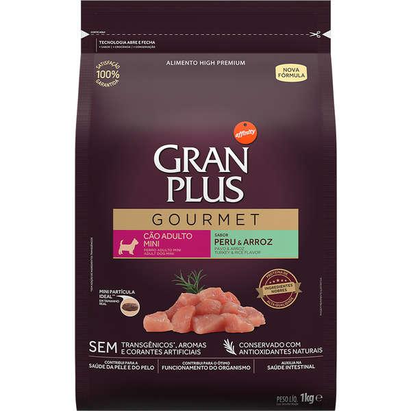 Ração GranPlus Gourmet Peru e Arroz para Cães Adultos Mini - 1 Kg