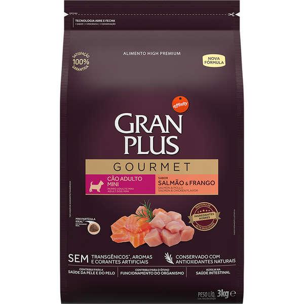 Ração GranPlus Gourmet Salmão e Frango para Cães Adultos Mini - 3 Kg