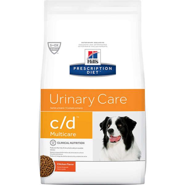 Ração Hill's Prescription Diet C/D Multicare Cuidado Urinário para Cães Adultos - 3,8 Kg