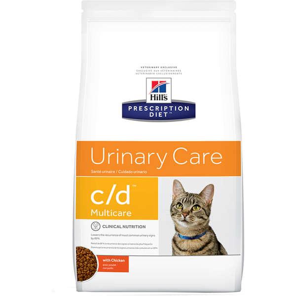 Ração Hill's Prescription Diet C/D Multicare Cuidado Urinário para Gatos Adultos - 1,81 Kg