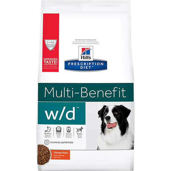 Ração Hill's Prescription Diet W/D Controle do Peso e Glicêmico para Cães Adultos - 1,5 Kg