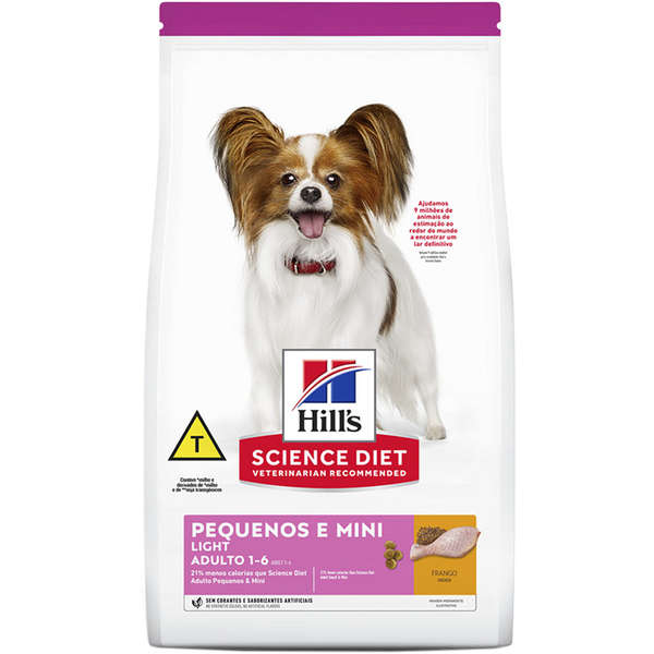 Ração Hill's Science Diet Light para Cães Adultos Raças Pequenas e Mini - 2,4 Kg