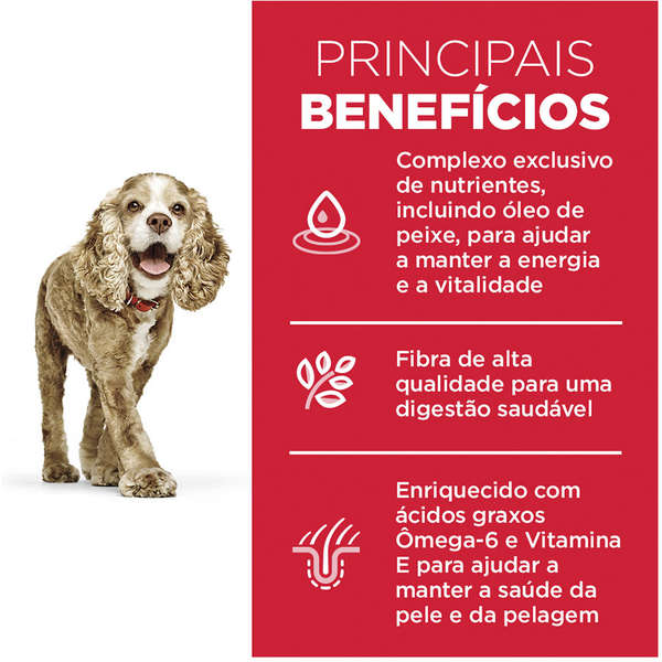 Ração Hill's Science Diet para Cães Adultos 11+ Raças Pequenas e Minis - 2,4 Kg