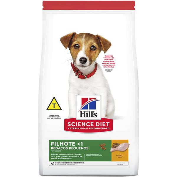 Ração Hill's Science Diet Pedaços Pequenos para Cães Filhotes - 800 g