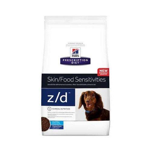 Ração Hills Prescription Diet Z/D Pedaços Pequenos Alergia Alimentos para Cães 3,17kg