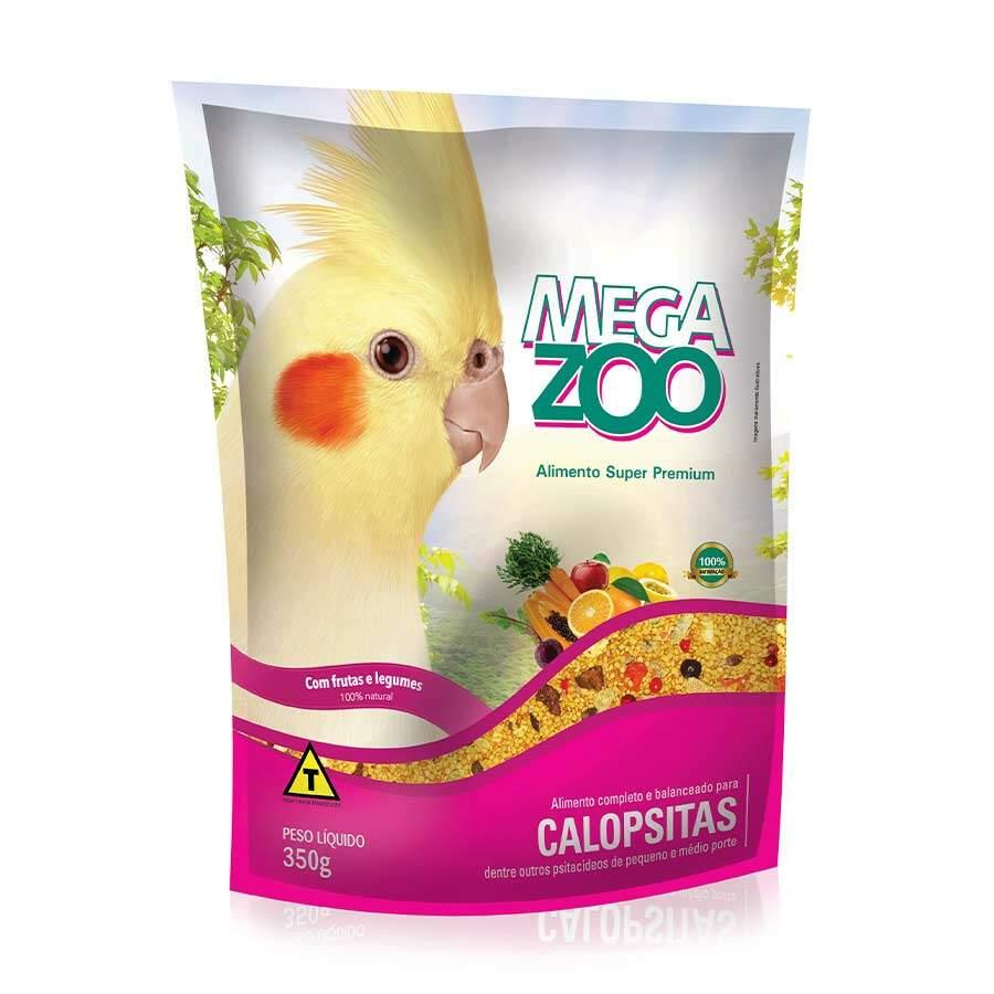 Ração Megazoo para Calopsitas Frutas e Legumes - 350g