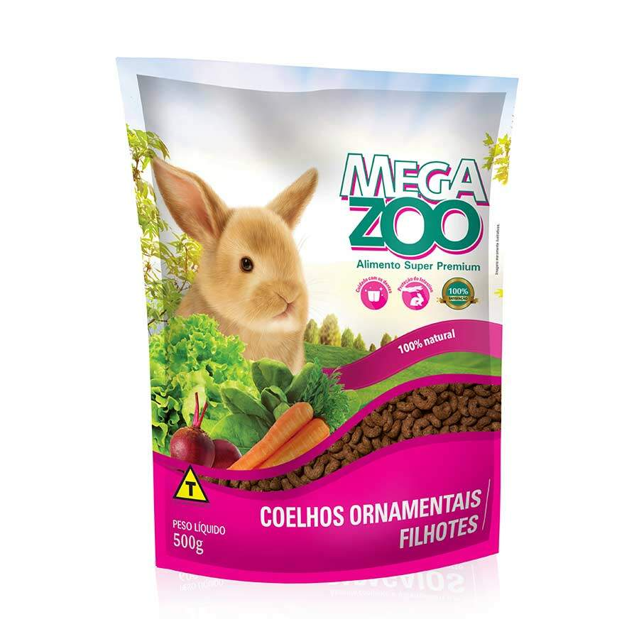 Ração Megazoo para Coelhos Ornamentais Filhotes - 500g