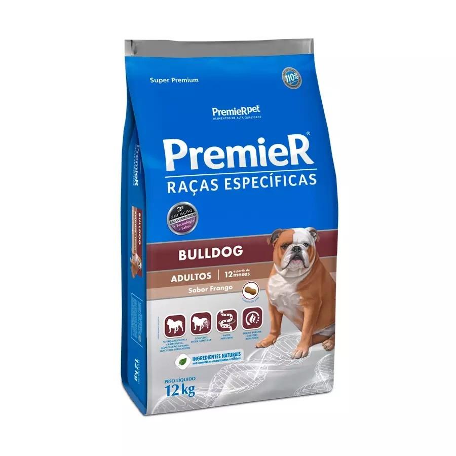 Ração Premier Bulldog Adultos Frango 12kg