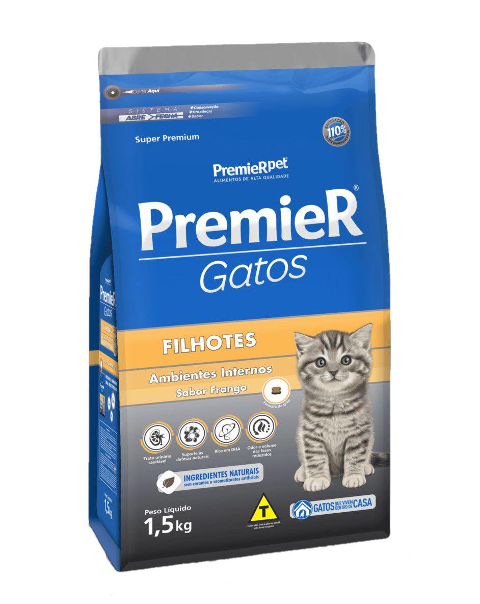 Ração Premier Para Gatos Filhotes Frango 1,5Kg