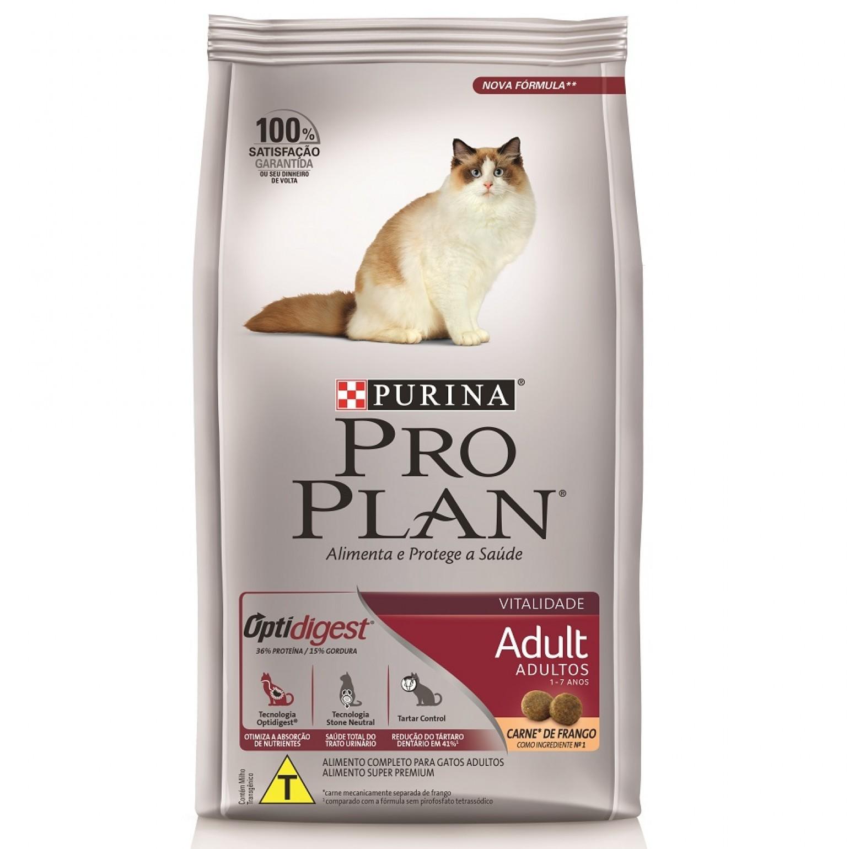 Ração Pro Plan Gatos Adulto 1-7 Anos Purina 7,5kg
