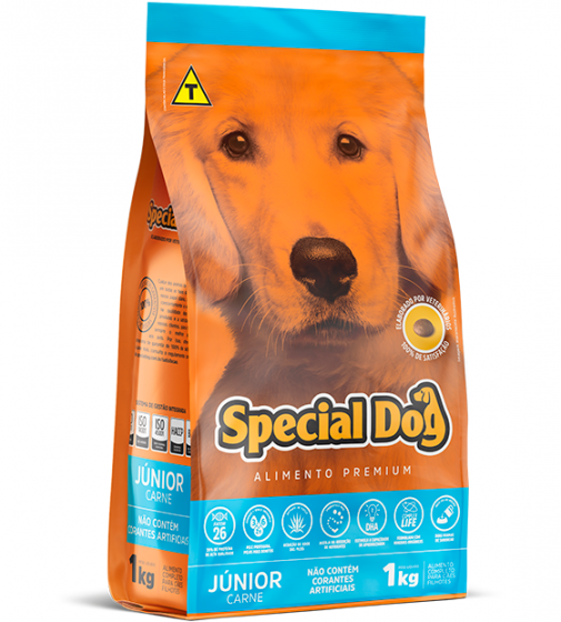 Ração Special Dog Premium Júnior Carne para Cães Filhotes - 1 Kg