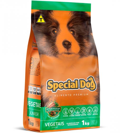 Ração Special Dog Premium Junior Vegetais para Cães Filhotes - 1 Kg