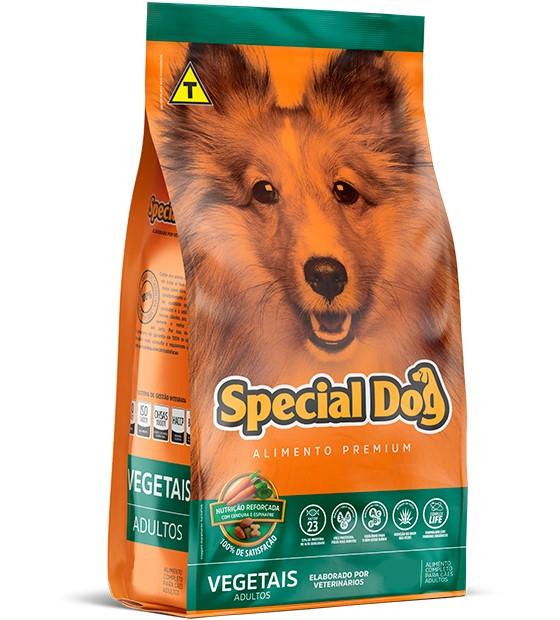 Ração Special Dog Premium Vegetais para Cães Adultos - 3 Kg
