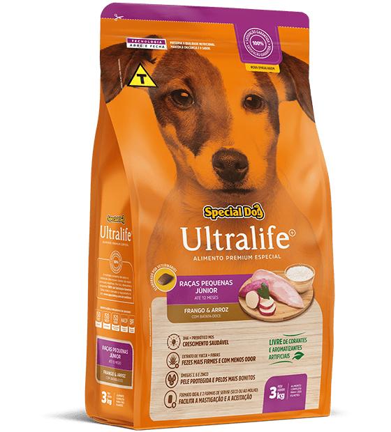 Ração Special Dog Ultralife para Cães Filhotes Raças Pequenas - 3 Kg