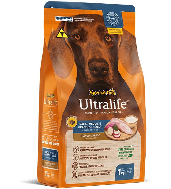 Ração Special Dog Ultralife Sênior para Cães de Raças Médias e Grandes - 1 Kg